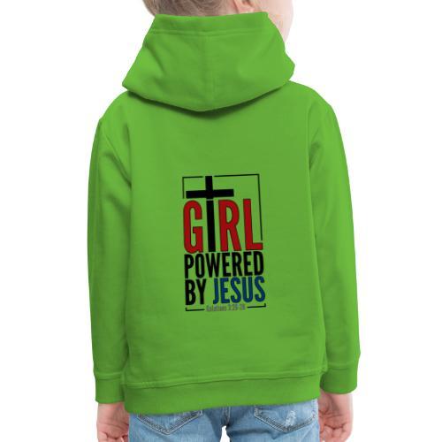 Girl Powered By Jesus - Women's Christian Fashion - Kids' Premium Hoodie