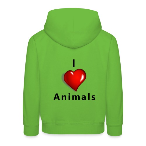i love animals - Kinderen trui Premium met capuchon