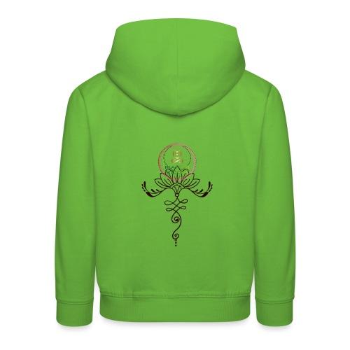 Lotus Unalome MaitriYoga - Pull à capuche Premium Enfant