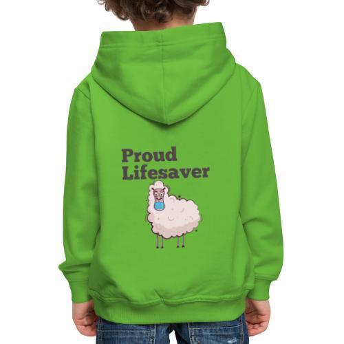 Schlafschafe retten Leben mit Mundschutz - Kinder Premium Hoodie