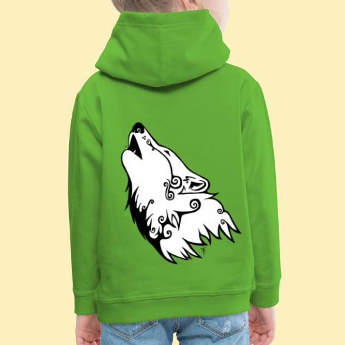 Le Loup de Neved (version blanche) - Pull à capuche Premium Enfant