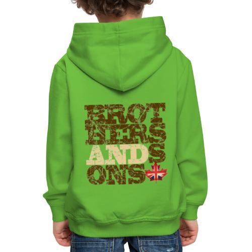 Brothers and Sons logo - dark design - Kids' Premium Hoodie