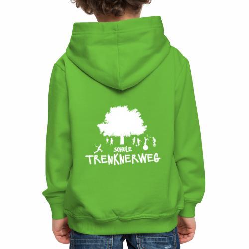 Weißes Logo: nur für grüne Textilien! - Kinder Premium Hoodie