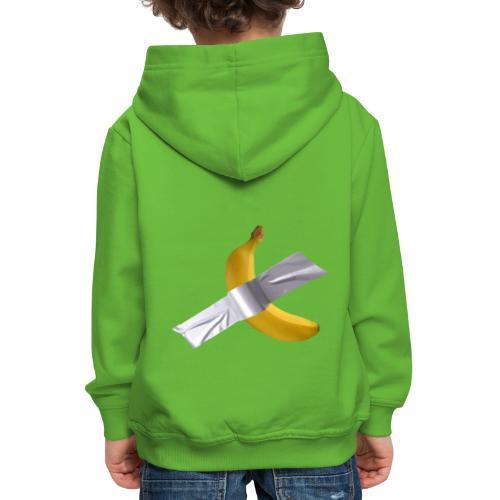 Banana art - Felpa con cappuccio Premium per bambini