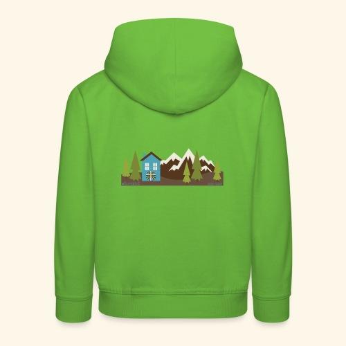 casettaAC - Felpa con cappuccio Premium per bambini