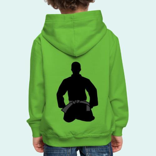 Judo Schwarzgurt - Kinder Premium Hoodie