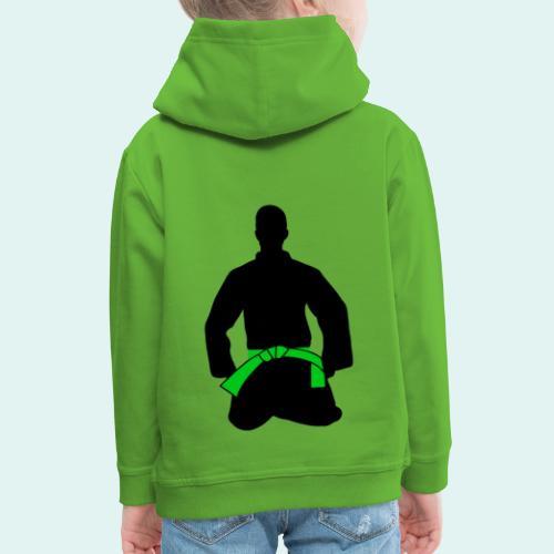 Judo Grüngurt - Kinder Premium Hoodie