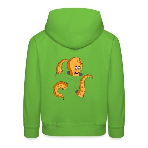 Simpatico polpo curioso - Felpa con cappuccio Premium per bambini