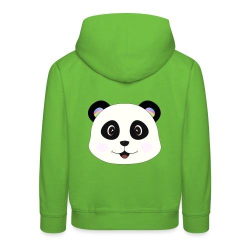 panda rainbow - Sudadera con capucha premium niño