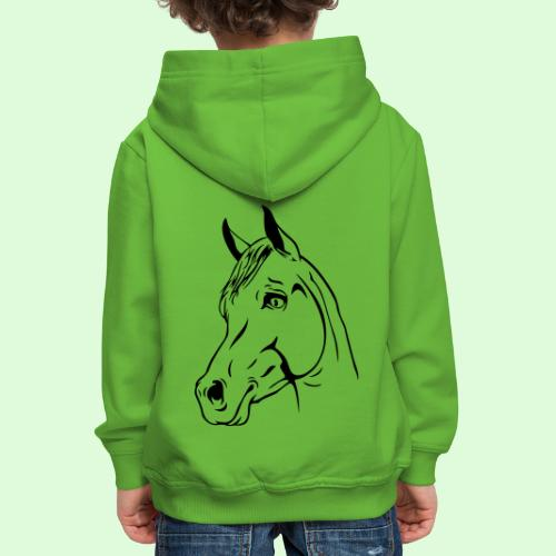 tête de cheval - Pull à capuche Premium Enfant