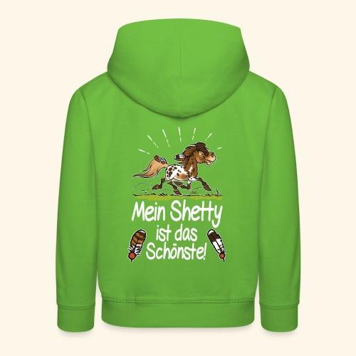 Mein Shetty das Schönste (Text weiss) - Pull à capuche Premium Enfant