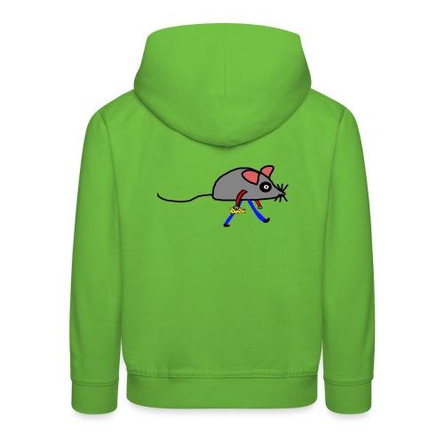 Maus mit Käse Lustiges Motiv - Kinder Premium Hoodie