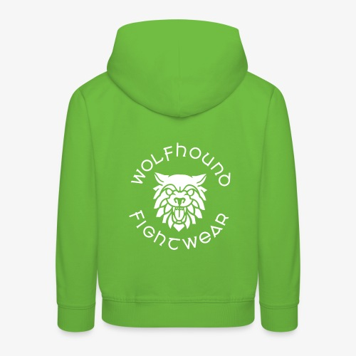 logo round w - Kids' Premium Hoodie