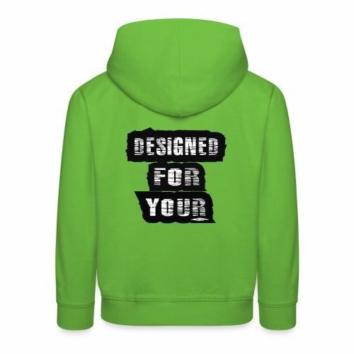 J&F Designed for your - Sudadera con capucha premium niño