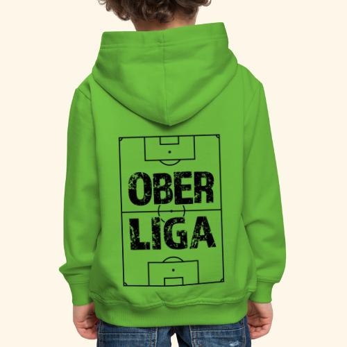 OBERLIGA im Fußballfeld - Kinder Premium Hoodie