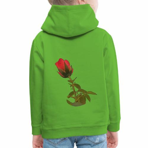 Rote Kletter Rose - Kinder Premium Hoodie