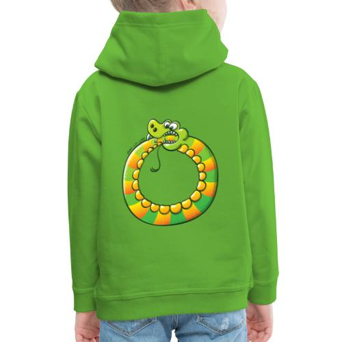 Crazy Snake Biting its own Tail - Kids' Premium Hoodie