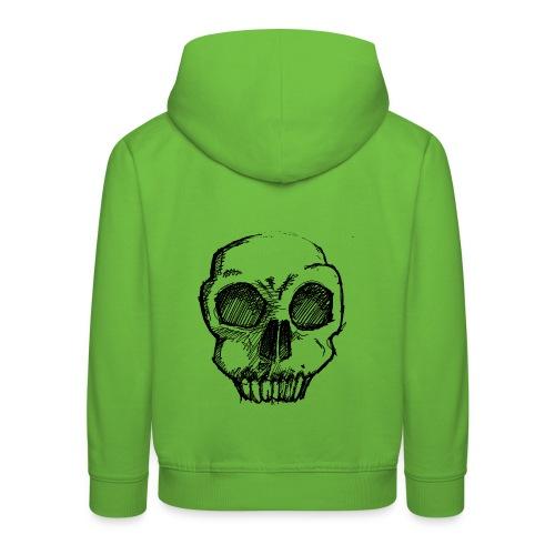 Skull sketch - Kids' Premium Hoodie