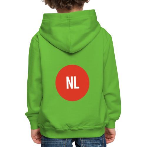 NL logo - Kinderen trui Premium met capuchon