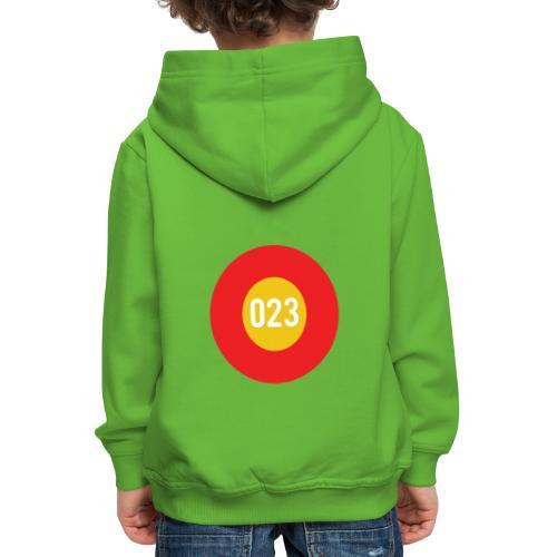 023 logo - Kinderen trui Premium met capuchon