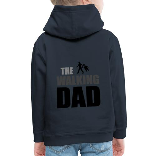 the walking dad auf dem Weg in die lustige Bar - Kinder Premium Hoodie