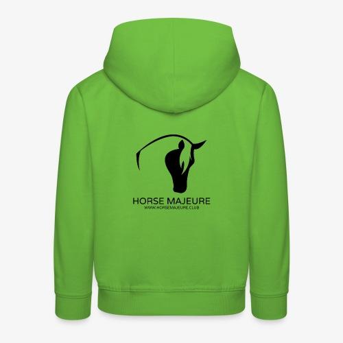 Horse Majeure Logo / Musta - Lasten premium huppari