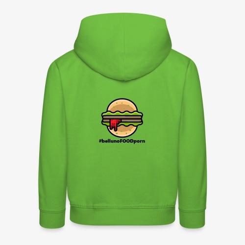 belluno FOOD burger - Felpa con cappuccio Premium per bambini