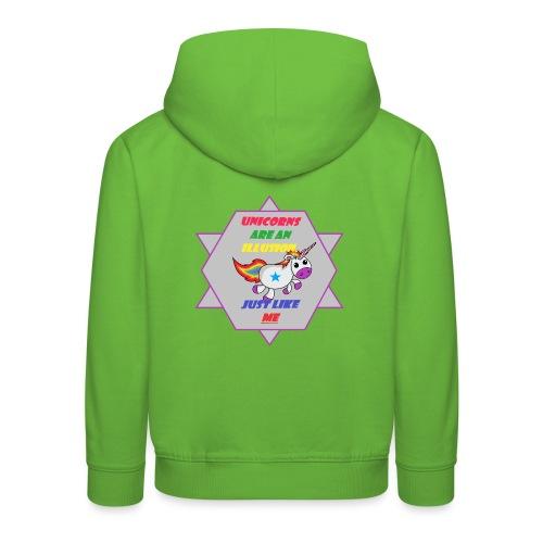 Unicorn with joke - Kids' Premium Hoodie