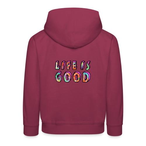LifeIsGood - Kids' Premium Hoodie
