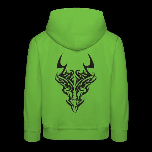tribal dragon - Pull à capuche Premium Enfant