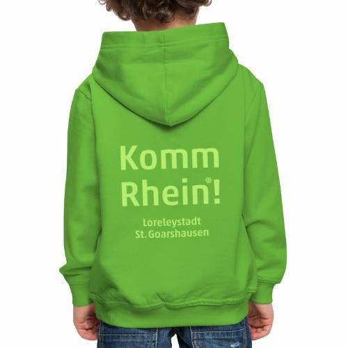 Komm Rhein! Loreleystadt St. Goarshausen - Kinder Premium Hoodie