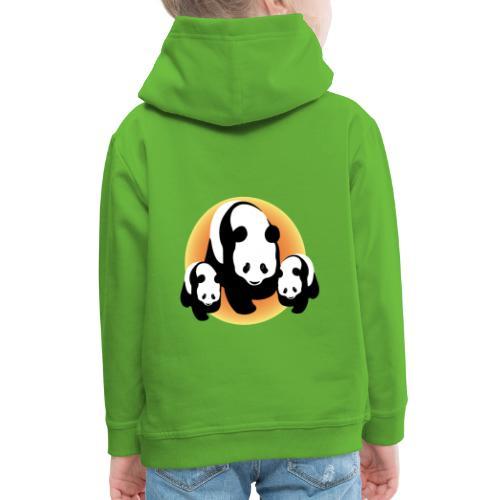 Chineese Panda's - Kinderen trui Premium met capuchon