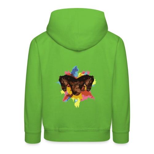Cheval coloré - Pull à capuche Premium Enfant