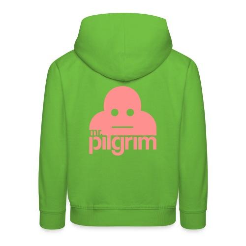Mr Pilgrim Logo (Black) - Kids' Premium Hoodie