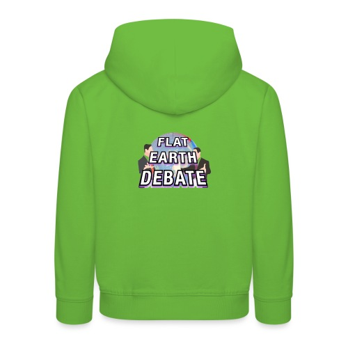 Flat Earth Debate Solid - Kids' Premium Hoodie