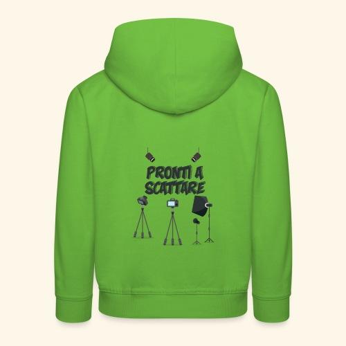 pronti a scattare - Felpa con cappuccio Premium per bambini