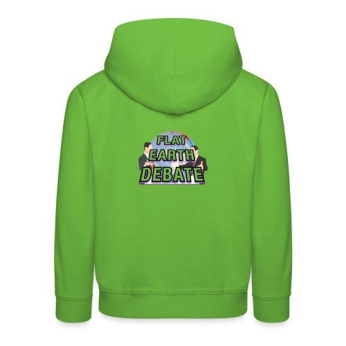 Flat Earth Debate - Kids' Premium Hoodie