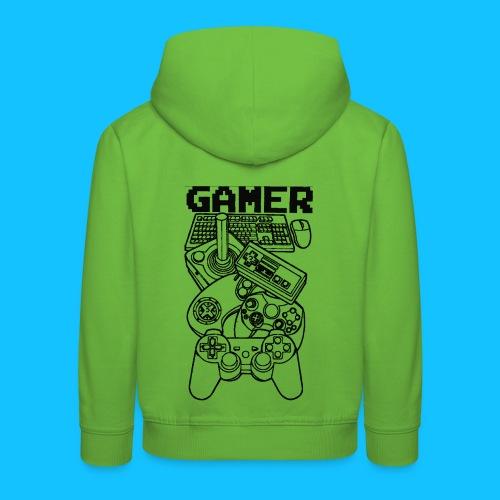 gamer - Bluza dziecięca z kapturem Premium