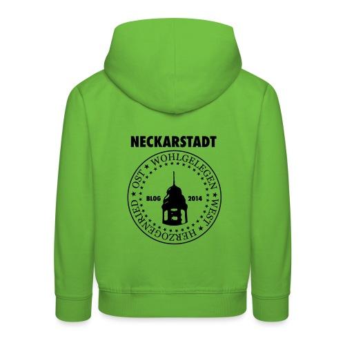 Neckarstadt Blog seit 2014 (Logo dunkel) - Kinder Premium Hoodie