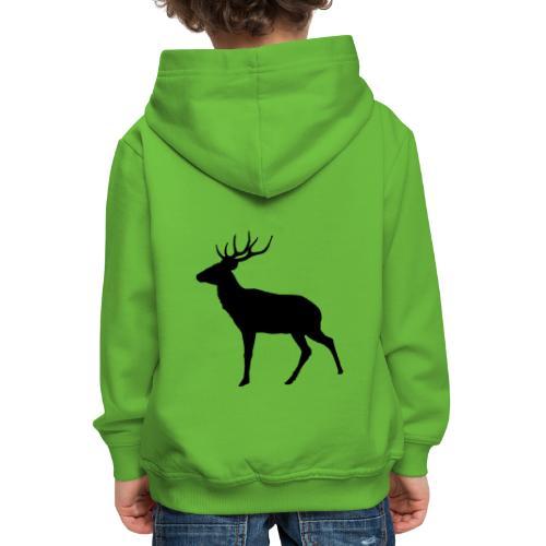 cervo - Felpa con cappuccio Premium per bambini