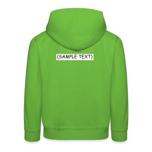 SAMPLETEXT DESIGN - Lasten premium huppari