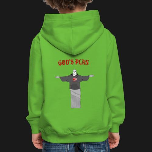 God's Plan - Pull à capuche Premium Enfant