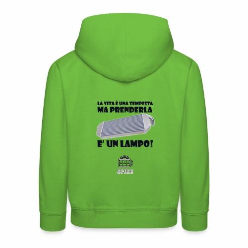 INTERCOOLER (nero) - Felpa con cappuccio Premium per bambini