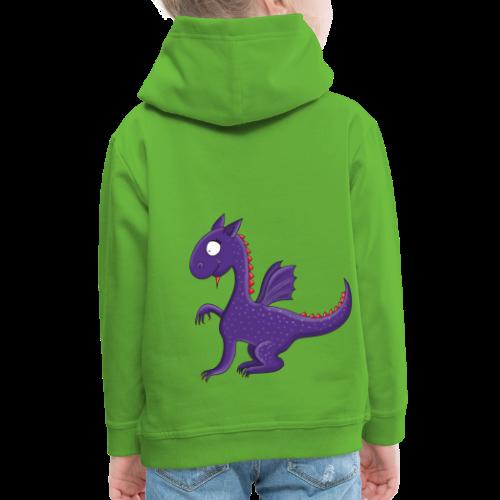 Violetter kleiner Drache mit Flügeln - Kinder Premium Hoodie