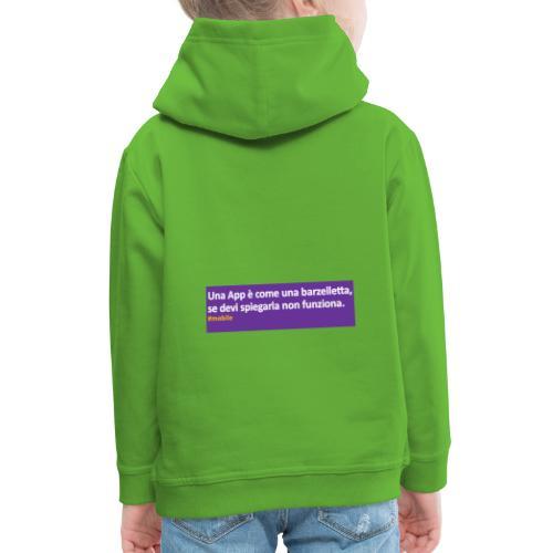 barzelletta - Felpa con cappuccio Premium per bambini