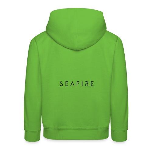 seafire logo BLACK - Kinderen trui Premium met capuchon