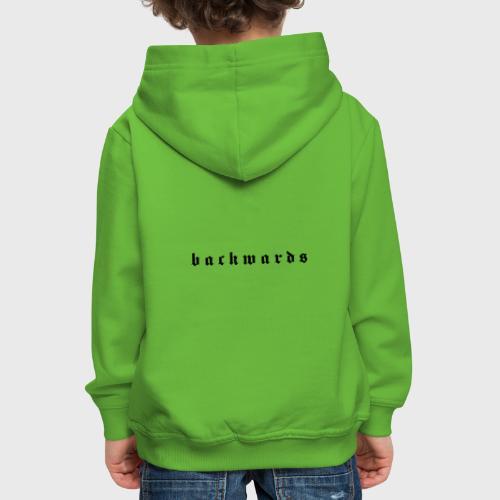 Backwards - Kinderen trui Premium met capuchon