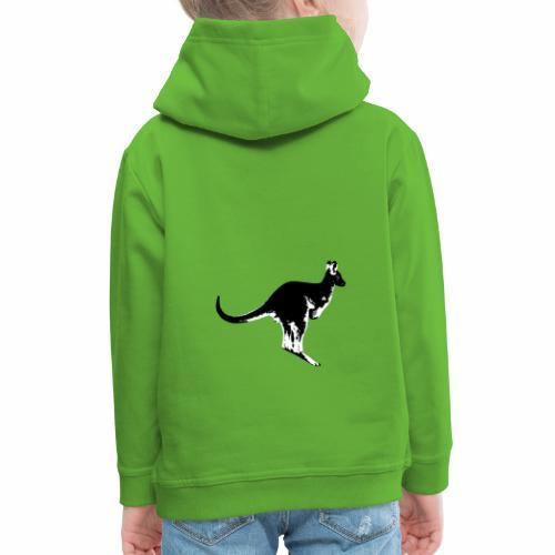 Känguru in schwarz weiss - Kinder Premium Hoodie