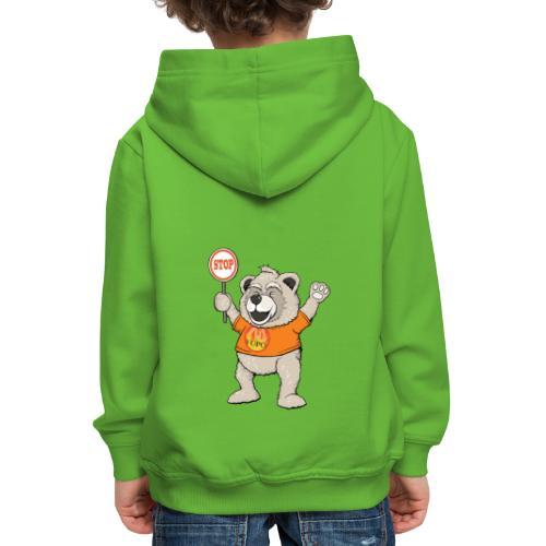 FUPO der Bär. Druckfarbe bunt - Kinder Premium Hoodie