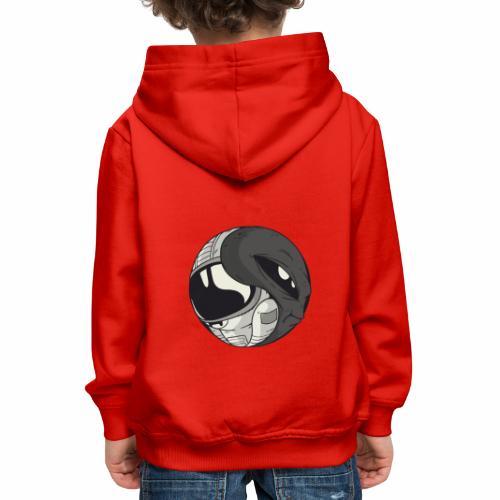 Yin Yang space Alien und Astronaut - Kinder Premium Hoodie
